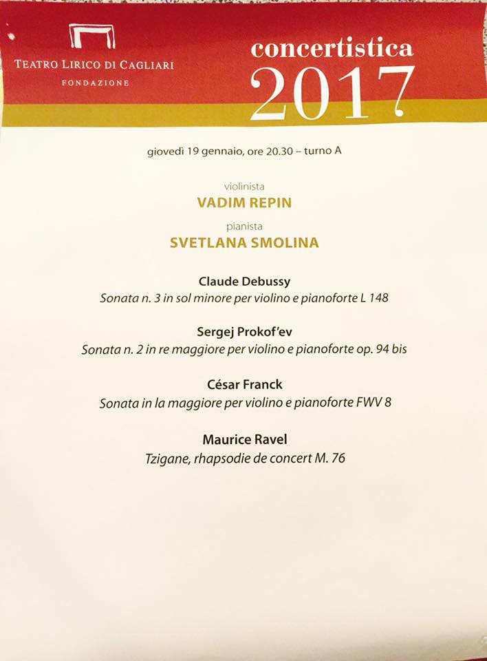 Teatro Cagliari Program